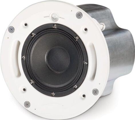QSC AD-C821R-SYSTEM Loudspeaker System with AD-C821 Loudspeaker, Split Ring, Tile Rails, & Round White Grille AD-C821R-SYSTEM