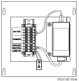 Leviton PST24-D25  24V, 2.5A Permanent Install Power Supply with Terminals PST24-D25