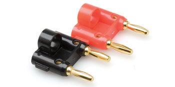 Hosa Bna 100 Dual Banana plug, 2 pack BNA-100
