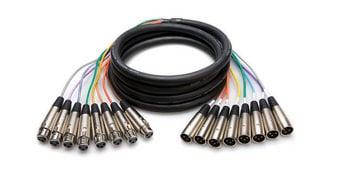 Hosa XLR805 Balanced Snake, XLR3F to XLR3M, 5m XLR805