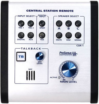 PreSonus Central Station PLUS Central Station Studio Control Center with CSR-1 Control Station Remote CENTRAL-STATION+