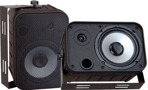 """Pyle Pro PDWR50B  6.5"""" Indoor/Outdoor Black Waterproof Speaker PDWR50B"""