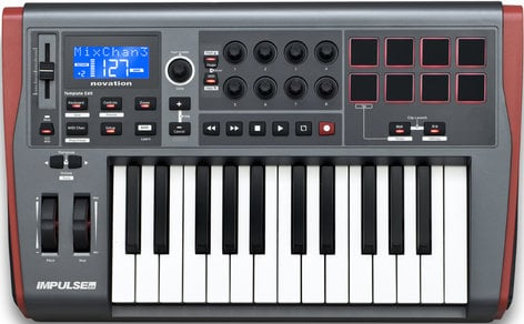 Novation Impulse 25 25-Key USB MIDI Controller Keyboard IMPULSE-25