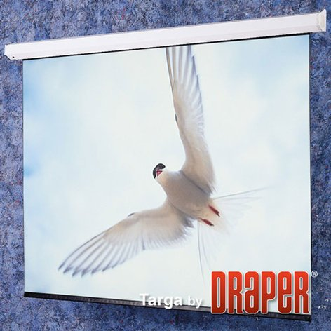 Draper 116007  Targa Motorized Screen, 7'x9', Matte White 116007