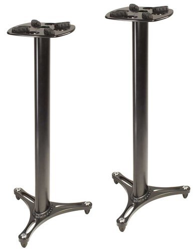 Ultimate Support MS-90/45B Pair of MS Series Column Studio Monitor Stands, Black MS90-45B