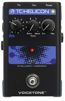 TC Helicon VOICETONE-H1 Pedal, Intelligent Vocal Harmony VOICETONE-H1