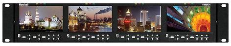 "Marshall Electronics V-MD434  2RU, 4x 4.3"" Hi-Res LCD Rack Monitor Unit with Modular I/O V-MD434"