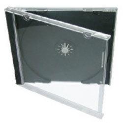 American Recordable Media JC-1/B CD Jewel Case, Single, Black Tray CD-JEWEL-CASE-W/TRAY