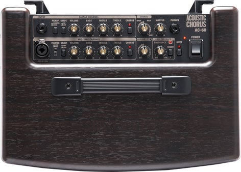 """Roland AC60-RW 2-Ch60W 2x6.5"""" Stereo Acoustic Guitar Amplifier with DSP & Rosewood Finish AC60-RW"""