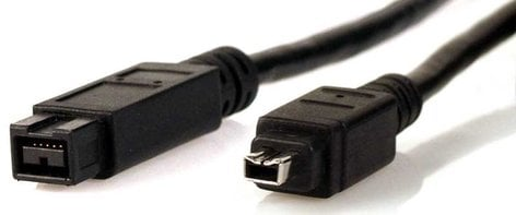 TecNec FWC-9-4-3  Firewire Cable, 9-pin - 4-pin, 3ft, Black FWC-9-4-3