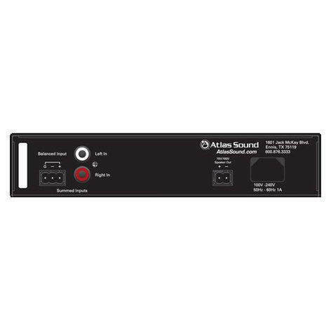 Atlas Sound PA40G 40W into 70V/100V Single-Channel Amplifier PA40G