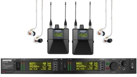Shure P10TR425CL In-Ear Wireless System, w/P10T dual-channel transmitter, 2 P10R bodypacks, and 2 SE425CL earbuds P10TR425CL
