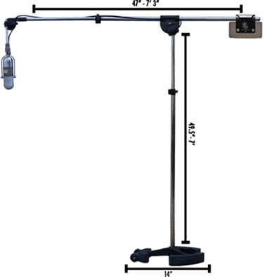 "Latch Lake Music MicKing 2200 45.5""-7' Microphone Boom Stand in Black MICKING-2200-BLACK"