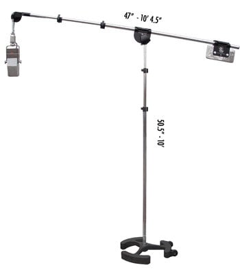 Latch Lake Music MicKing 3300 3.5'-9.5' Microphone Boom Stand in Black MICKING-3300-BLACK