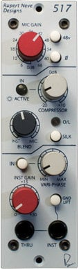 Rupert Neve Designs 517 Microphone Preamp/DI/Compressor with Variphase 517