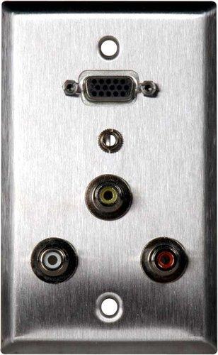 TecNec WPL-1181  WallPlate,SS,VGA-F/3RCA/3.5MM  WPL-1181