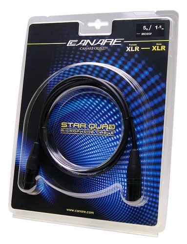Canare MC05F 5 ft Starquad XLR Cable, Female to Male MC05F