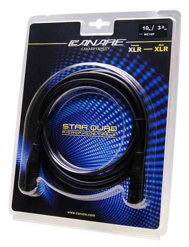 Canare MC10F 10 ft Starquad XLR Cable, Female to Male MC10F