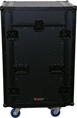 Odyssey FZGS1116WDLXBL Black Label Series Glide-Style Flight Zone Deluxe Combo Case FZGS1116WDLXBL