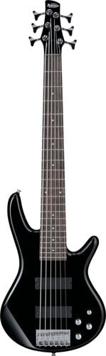 Ibanez GSR206 BK Gio 6-String Bass Black 6 String Bass GSR206BK