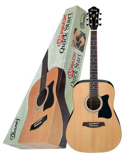 Ibanez IJV50 Jam Pack Solid Top Acoustic Jam Pack Acoustic Guitar Package IJV50