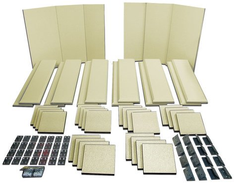 Primacoustic LONDON-16 Broadway Acoustical Panels Room Kit with 6 Broadway Panels, 12 Control Columns, 24 Scatter Blocks LONDON-16