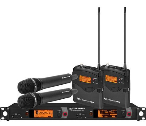 Sennheiser 2000C2-865BK Dual Channel Contract Wireless Microphone System, 865-1 2000C2-865BK