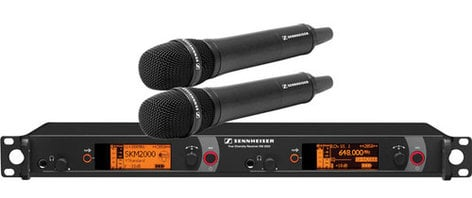 Sennheiser 2000H2-865BK Dual Channel Hand Held Wireless Microphone System 865-1 2000H2-865BK