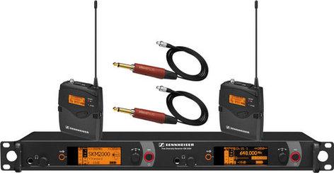 Sennheiser 2000BP2-INST Dual Channel Bodypack System for Instruments 2000BP2-INST