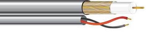 West Penn 252815-1000 RG59/U CCTV + Power Coax, Plenum Rated Cable, 1000ft 252815-1000