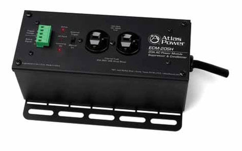 Atlas Sound ECM-20SH 20A Single Housing Power Conditioner and AC Spike Suppressor ECM-20SH