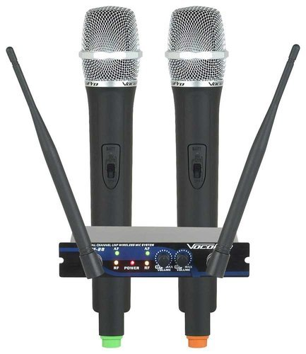 VocoPro UHF28 Mic System, Dual Channel  UHF-28