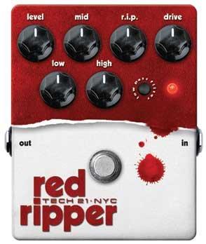 Tech 21 RED RIPPER Bass Fuzz/Distortion,RedRipper RIP