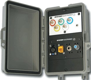 Mystery Electronics AW2000 Padlockable Gray All-Weather Wall Box Enclosure AW2000