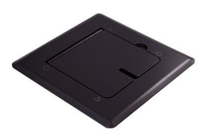 Mystery Electronics FMCA1000 Self-Trimming Black Floor Box with Cable Slots FMCA1000