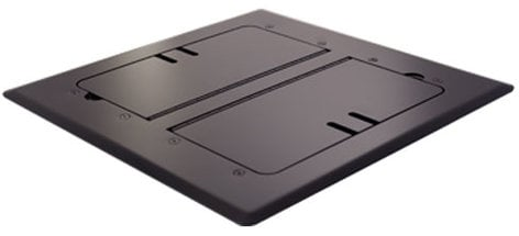 Mystery Electronics FMCA3000 Black Self-Trimming Floor Box with Cable Slots FMCA3000