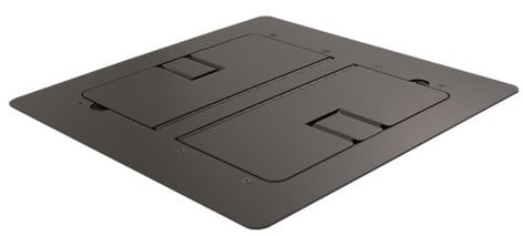 Mystery Electronics FMCA3200 Black Flat-Trimming Floor Box with Cable Slots FMCA3200