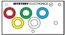 """Mystery Electronics MPV ModuLine Insert Panel Punched for 5x 1/2"""" Color-Coded Neutrik D Connectors & 1x 1/8"""" Connector MPV"""