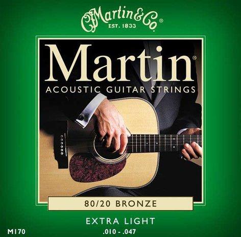 Martin Strings M170PK3 3 Pack of Extra Light 80/20 Acoustic Guitar Strings M170PK3