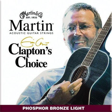 Martin Strings MEC12 Light Clapton's Choice Phosphor Bronze Acoustic Guitar Strings MEC12