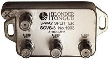 Blonder-Tongue SCVS-3 Splitter 3way L-style  #1903  SCVS-3