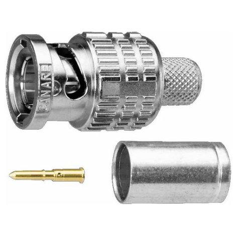 Canare BCP-B5F 75 Ohm Crimp-Style BNC Plug - Straight Type BCP-B5F