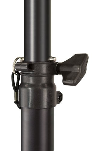 Ultimate Support TS-70B Aluminum Tripod Speaker Stand in Black with Safe/Secure Locking Pin and 150 lb Load Capacity TS70B