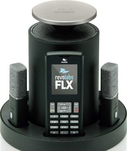 Revolabs 10-FLX2-200-POTS FLX2 Conference Mic System with 2 Omni Tabletop Mics, Analog Phone 10-FLX2-200-POTS