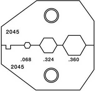 Paladin Tools 2045  RG6, RG6 Quad Die, CrimpALL/8000 & 1300 Series Crimper 2045