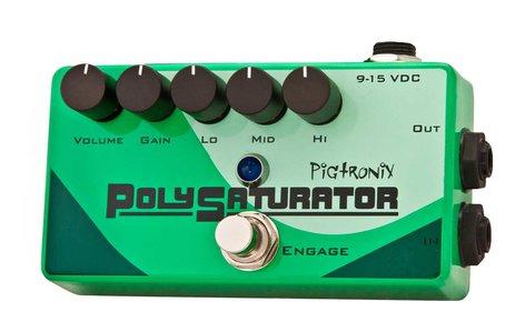 Pigtronix POLYSATURATOR  Pedal Distortion w/EQ  POLYSATURATOR