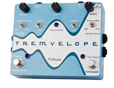 Pigtronix TREMVELOPE Envelope Modulated Tremolo Pedal TREMVELOPE