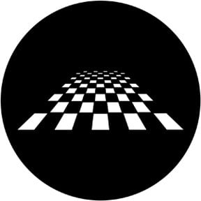 Rosco Laboratories 78053 Perspective Chessboard Gobo 78053