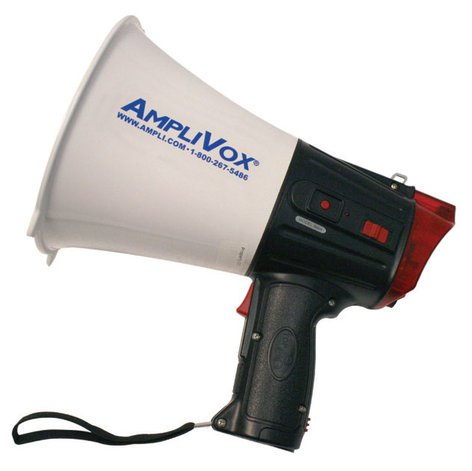 AmpliVox S604 10W Megaphone with Safety Strobe & Flashlight S604