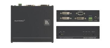 Kramer VS21HDCP-IR 2x1 HDCP Compliant DVI Video Switcher VS21HDCP-IR